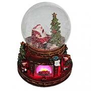 Стеклянные и водяные шары со снегом