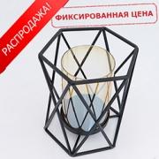 Подсвечники из стекла и метала
