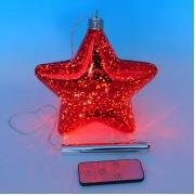 Стеклянный новогодний декор с подсветкой