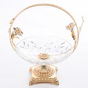 Позолоченная и посеребренная посуда и вазы с хрусталиками Swarovski