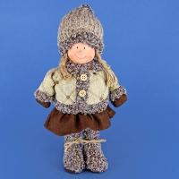 ZC-40521 (24) 16*8*28см. Девочка в пальто и шапке