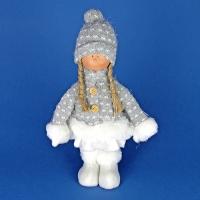 ZC-40523 (24) 16*8*28см. Девочка в пальто и шапке