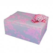 WJ-63079 (12/16) Шкатулка для ювелирных украшений, из текстиля 27*20*13см