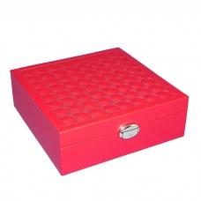 WJ-63093 (24) Шкатулка для ювелирных украшений и часов кожзам 25.3*25.3*8.5см