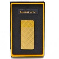 S-1079G Зажигалка золотого цвета, 30*8*65мм