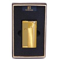 H-310 Зажигалка золотого цвета с фонариком 35*10*60мм