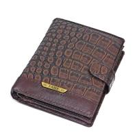 302B-9999 Портмоне с отделением для паспорта, 11*14см, натур. кожа, коричн. цвет