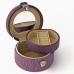 AB-21376 (60) 11*10*6см. Шкатулка для ювелирных украшений, из искусственной кожи