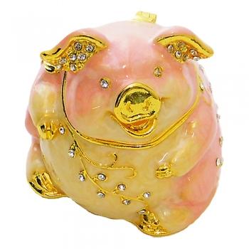 """ST-0209 Шкатулка для ювелирных украшений """"Свинья"""" 5*4,5*5см (50)"""