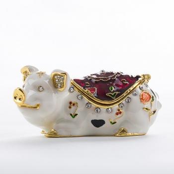 """ST-0210 Шкатулка для ювелирных украшений """"Свинья"""" 3,2*3,2*6,6см (50)"""