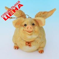 """PG-7961 (24) 10*8,5*8 см Фигурка """"Свинья"""", искусственный камень, пр-во SEALMARK ( HONG KON"""