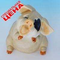 """PG-7968 (30) 7,5*8*10 см Фигурка """"Свинья"""", искусственный камень, пр-во SEALMARK (HONG KONG"""