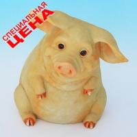 """PG-7971 (30) 8*9*10,5 см Фигурка """"Свинья"""", искусственный камень, пр-во SEALMARK (HONG KONG"""
