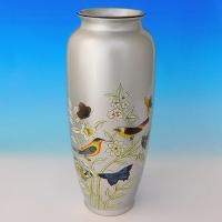 NI-01143 (8) Ваза для цветов, серебряный цвет, керамика 15.5*15.5*35см