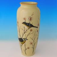 NI-01146 (8)  Ваза для цветов бежевая с рисунком, керамика, 15.5*15.5*35см