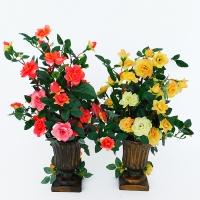 """YW-00014 (18) Искусственный цветок в вазе """"Роза"""", в ассортименте D=10 см  H=36 см"""