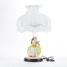 """QP-80194L (4) d=36см, h=55см Лампа с фарфоровой статуэткой """"Девушка со скрипкой"""""""