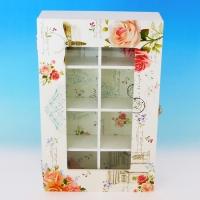 "YW-00210 (18) Шкатулка чайная с секциями ""Роза"", 32*20*7 см"
