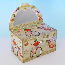 YW-00215 (24) Шкатулка для ювелирных украшений с зеркалом, 19,7*12*12 см