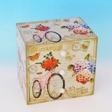 YW-00217 (24) Шкатулка для ювелирных украшений, 16*15*11,5 см