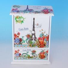 YW-00219 (24) Шкатулка для ювелирных украшений, 14*19,5*7,5см