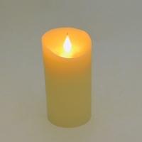 YW-00360 (72) Свеча из воска с дрожащим язычком, на батарейках 7,5*15 см