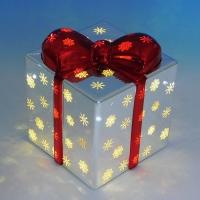 BC-38012 (18) Стеклянный подарок со светодиодной подсветкой  12*12*14см