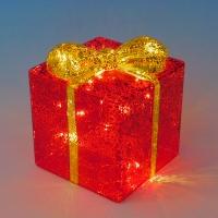 BC-38013 (18) Стеклянный подарок со светодиодной подсветкой  12*12*14см