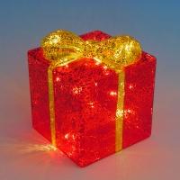 BC-38016 (24) Стеклянный подарок со светодиодной подсветкой  10*10*12см