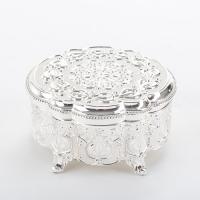 SA-5375/SL (24) Шкатулка для ювелирных украшений, 12.5*12.5*6см, посеребренная
