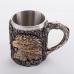PW-10517 (18) Кружка нерж.сталь/искусственный камень 15*10*11,5см, 500 мл