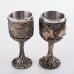 PW-10524 (12) Набор из двух бокалов нерж.сталь/искусственный камень 8*8*17см