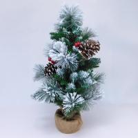 YW-00274 (9) Искусственная елка с шишками и ягодами H=60см