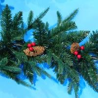 YW-00278 (10) Гирлянда в виде елки с шишками L=270см