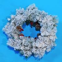 YW-00281 (8) Венок новогодний D=50см