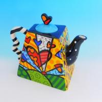 YW-00341 (12) Заварочный чайник, керамический, ручная роспись,  21см