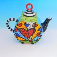 YW-00344 (12) Заварочный чайник, керамический, ручная роспись, 26см