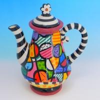 YW-00346 (12) Заварочный чайник, керамический, ручная роспись, 21см