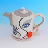 YW-00347 (12) Заварочный чайник, керамический, ручная роспись, 25см
