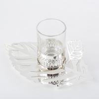 YW-00396/SL (6) Набор из 6-ти стаканов с блюдцами, посеребренный