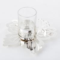 YW-00397/SL (6) Набор из 6-ти стаканов с блюдцами, посеребренный