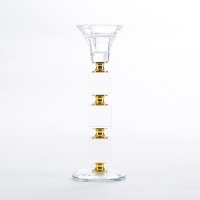 YW-00402 (72) Подсвечник стеклянный 20*7см