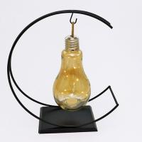 PP-00027 (12) Светильник в виде лампы из стекла и металла c минигирляндой, 30*12*35см