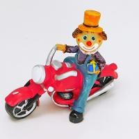 YW-00693 (96) Клоун на мотоцикле, 17*9*14см
