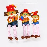 YW-00697 (96н.) Набор из 3-х клоунов с мягкими ногами, 8*5*13см