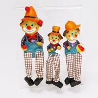 YW-00698 (96н.) Набор из 3-х клоунов с мягкими ногами, 3 вида, 13см