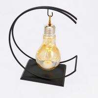 PP-00025 (24) Светильник в виде лампы из стекла и металла c минигирляндой, 26*12*27см