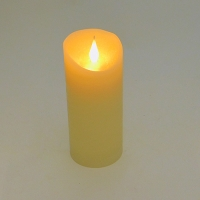 PP-00025Свеча (48) Свеча из воска с дрожащим язычком, на батарейках 7,5*17.5см