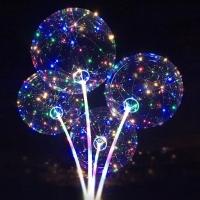 YW-00138/1 Воздушный шар Baby Balls, d=50см с 50 LED подсветкой, разборная ручка 97 см