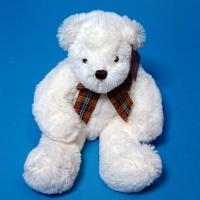 10A0253(24) медведь мягкий с бантом белый 27*12*40см
